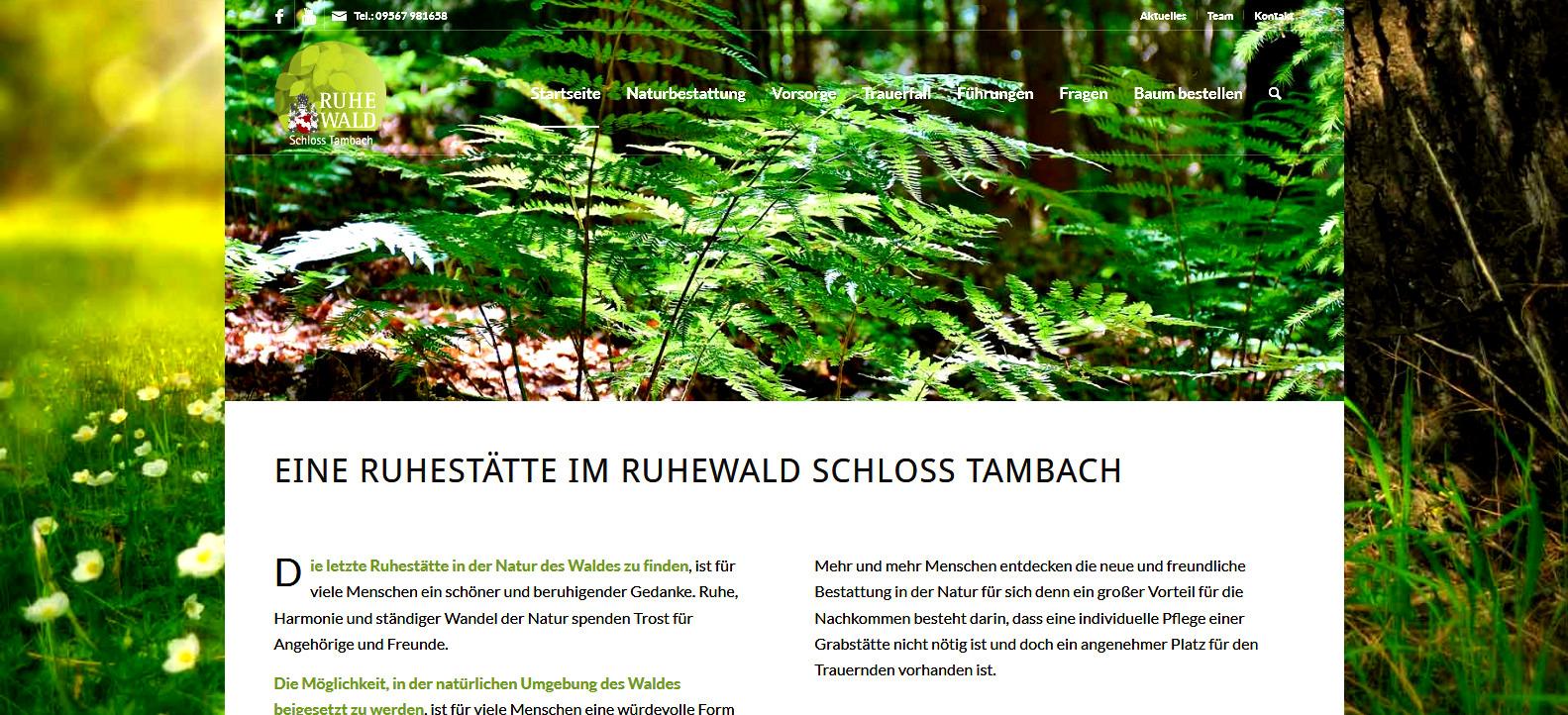 Ruhewald Schloss Tambach – Naturbestattung